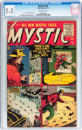 Golden Age (1938-1955):Horror, Mystic #39 (Atlas, 1955) CGC FN- 5.5 Off-white pages....