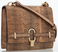 Luxury Accessories:Bags, Gucci Natural Python Top Handle Bag. ...