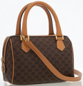 Luxury Accessories:Bags, Celine Brown Monogram Canvas Crossbody Bag. ...