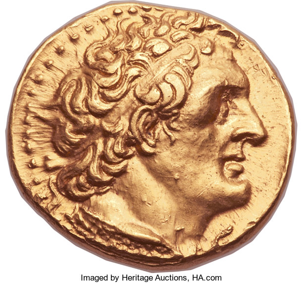 Ancients:Greek, Ancients: PTOLEMAIC EGYPT. Ptolemy II Philadelphus (285/4-24 BC).AV trichryson or pentadrachm (25mm, 17.82 gm, 12h).  ...