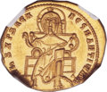 Ancients:Byzantine, Ancients: Romanus I Lecapenus (AD 920-944), with ConstantineVII andChristopher. AV solidus (21mm, 4.44 gm,6h)....