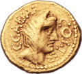 Ancients:Roman Republic, Ancients: Julius Caesar as Dictator (49-44 BC). AV aureus (19mm, 8.16 gm, 9h).  ...