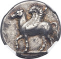 Ancients:Greek, Ancients: CORINTHIA. Corinth. Ca. 400-375 BC. AR stater (23mm, 8.58 gm, 1h). ...