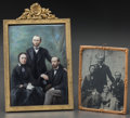 Photographs:19th Century, A GERMAN PORCELAIN PAINTED PORTRAIT PLAQUE AND RELATED PHOTOGRAPH,circa 1885, probably Berlin. 5-3/4 x 4 inches (14.8 x 10....(Total: 2 Items)