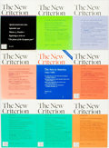 Books:Periodicals, [Periodicals]. The New Criterion. Group of Nine Issues.March 1985-September 1996. Publishers printed wrappers. ... (Total:9 Items)