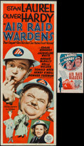 "Movie Posters:Comedy, Air Raid Wardens (MGM, 1943). Insert (14"" X 36"") & Herald (6.5""X 10""). Comedy.. ... (Total: 2 Items)"