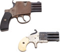 Handguns:Derringer, Palm, Lot of Two Multi-Barrel Pocket Pistols.... (Total: 2 Items)