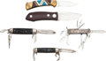 Edged Weapons:Knives, Lot of Five Folders.... (Total: 5 Items)