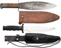 Edged Weapons:Knives, Lot of Two Knives.... (Total: 2 Items)