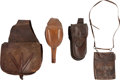 Western Expansion:Cowboy, Lot of Assorted 19th Century Pommel Holsters and Saddle Bags....(Total: 4 Items)