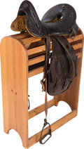 Western Expansion:Cowboy, Late 19th Century McClellan Cavalry Saddle and Saddle Bags....(Total: 2 )