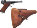 Handguns:Semiautomatic Pistol, German Krieghoff S Code Luger Semi-Automatic Pistol with Leather Holster....