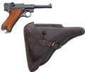 Handguns:Semiautomatic Pistol, German S/42 Code 1937 Dated Luger Semi-Automatic Pistol with Leather Holster....
