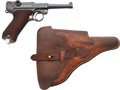 Handguns:Semiautomatic Pistol, German DWM Luger Semi-Automatic Pistol with Leather Holster....