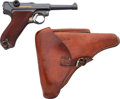 Handguns:Semiautomatic Pistol, German DWM 08 Commercial Luger Semi-Automatic Pistol with Leather Holster....