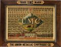 "Ammunition, Rare and Fine Late 19th Century UMC ""Elk Scene"" Cartridge Board...."