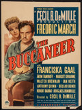 "Movie Posters:Adventure, The Buccaneer (Paramount, 1938). Trimmed Midget Window Card (8"" X10.75""). Adventure.. ..."