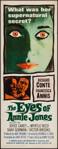 "Movie Posters:Mystery, The Eyes of Annie Jones (20th Century Fox, 1964). Insert (14"" X36""). Mystery.. ..."