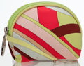Luxury Accessories:Bags, Emilio Pucci Multicolor Silk Accessories Pouch Bag. ...