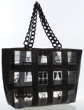 Luxury Accessories:Bags, Chanel Black Vinyl No. 5 Tote Bag. ...