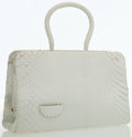 Luxury Accessories:Bags, Judith Leiber White Python Top Handle Bag . ...