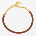 Luxury Accessories:Bags, Hermes Natural Bridle Leather Jumbo Bracelet with Gold Hardware....
