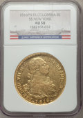 Colombia, Colombia: Ferdinand VII gold 8 Escudos 1816 Pn-FR AU58 NGC,...