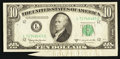 Error Notes:Attached Tabs, Fr. 2014-L $10 1950D Federal Reserve Note. Choice CrispUncirculated.. ...