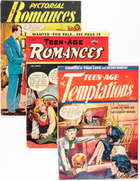 Golden Age Matt Baker Related Romance Group (Various Publishers, 1940s-50s) Condition: Average GD/VG.... (Total: 6 Comic...