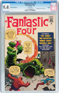 Silver Age (1956-1969):Superhero, Fantastic Four #1 Golden Record Reprint (w/record) (Marvel, 1966) CGC NM 9.4 White Pages.... (Total: 2 Items)