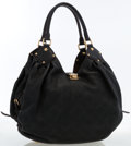 Luxury Accessories:Bags, Louis Vuitton Black Taurillon Leather Mahina Hobo Bag. ...