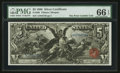 Large Size:Silver Certificates, Fr. 268 $5 1896 Silver Certificate PMG Gem Uncirculated 66 EPQ.....