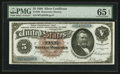 Large Size:Silver Certificates, Fr. 263 $5 1886 Silver Certificate PMG Gem Uncirculated 65 EPQ.. ...