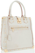 Luxury Accessories:Bags, Louis Vuitton White Suhali Leather Le Fableux Grande Tote Bag. ...