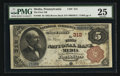 National Bank Notes:Pennsylvania, Media, PA - $5 1882 Brown Back Fr. 466 The First NB Ch. # 312. ...