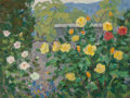 Fine Art - Painting, Russian:Contemporary (1950 to present), RUSSIAN SCHOOL (20th Century). Wall of Roses. Oil oncardstock. 13-3/4 x 18 inches (34.9 x 45.7 cm). ...