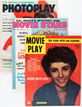 Memorabilia:Movie-Related, Movie Magazine Group (1950-57).... (Total: 5 Items)