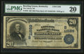 National Bank Notes:Kentucky, Bowling Green, KY - $20 1902 Plain Back Fr. 659 The Liberty NB Ch.# (S)11589. ...