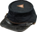 Militaria:Uniforms, Very Fine Untouched Condition Civil War Union Officer's Kepi with Original 4th Corps Badge Mounted on Top, Circa 1863/64. ...