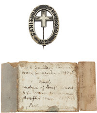 Civil War U.S. Sanitary Commission Badge, Believed to be One of Only Two Examples Extant