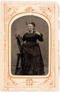 "Photography:Tintypes, Unusual 2½"" x 3½"" Tintype with Civil War-Related Provenance, Circa1870. ..."