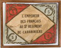 """Military & Patriotic:Foreign Wars, French 5th Carabiniers Regimental Flag With """"Wagram"""" Battle Honor...."""