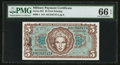 Military Payment Certificates:Series 651, Series 651 $5 PMG Gem Uncirculated 66 EPQ.. ...