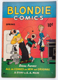 Golden Age (1938-1955):Humor, Blondie Comics #1 (David McKay Publications, 1947) Condition: VG-....
