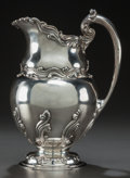 Silver Holloware, American:Pitchers, AN AMERICAN SILVER WATER PITCHER, circa 1950. Marks: STERLING,3429. 12 x 8 x 6 inches (30.5 x 20.3 x 15.2 cm). 39.05 tr...