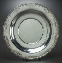 AN R. WALLACE & SONS SILVER PLATTER, Wallingford, Connecticut, circa 1950 Marks: RW&S, WALLACE, STERLING, 33...