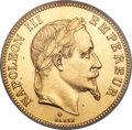 France: Napoleon III gold 100 Francs 1869-BB MS64 NGC