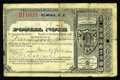 Miscellaneous:Postal Currency, Elmira, NY Postal Note. A tougher later issue Postal Note datedJanuary 28, 1886 purchased in Elmira, New York in the amount...
