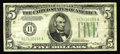Error Notes:Inverted Reverses, Fr. 1955-H $5 1934 Mule Federal Reserve Note. Inverted ReverseFine-Very Fine.. This note marks only the second time that a ...