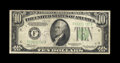 Error Notes:Inverted Reverses, Fr. 2006-F $10 1934A Federal Reserve Note Inverted Reverse.Fine-Very Fine. A scarce early inverted reverse example, problem...